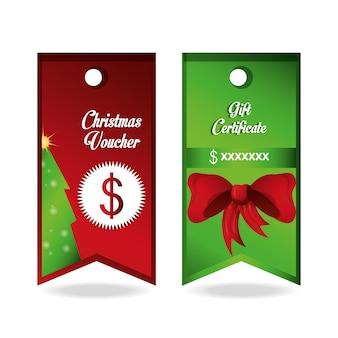 Cupón de navidad y certificado de regalo