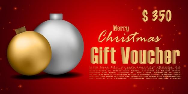 Cupón de regalo de navidad cupón de descuento, fondo de navidad