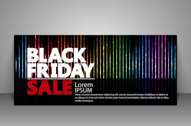 Cupón de regalo de venta de viernes negro