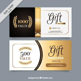 Cupones de regalo de lujo