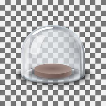 Cúpula de vidrio transparente