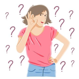Curiosidad, chismes, concepto de sordera