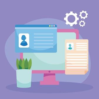 Currículos de cv y cumplimiento de trabajo virtual