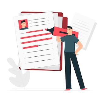 Curriculum ilustración del concepto