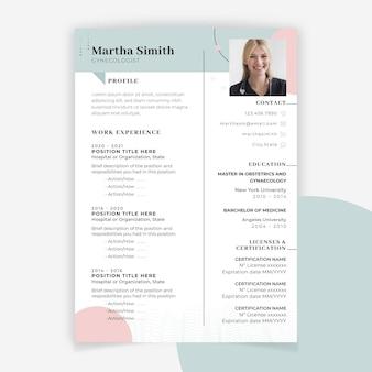 Currículum médico minimalista abstracto