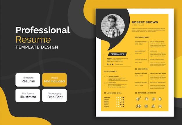 Currículum simple diseño de plantilla curricular