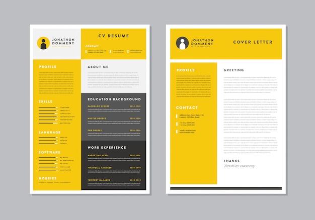 Curriculum vitae cv currículum diseño de plantilla