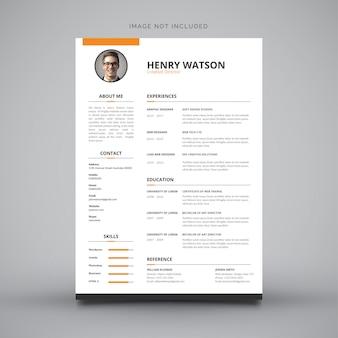 Currículum vitae de diseño.