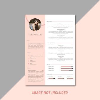 Curriculum vitae femenino plantilla de diseño.