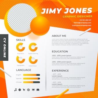 Currículum vitae en línea de gradiente