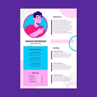 Curriculum vitae orgánico plano ilustrado