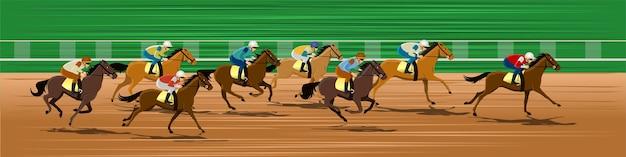 Curso de carrera de caballos
