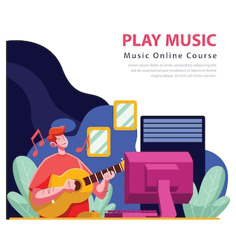 Curso en línea de guitarra desde casa