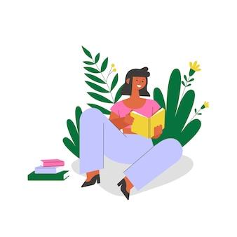 Curso online de escucha para estudiantes. ilustración del concepto de educación remota.