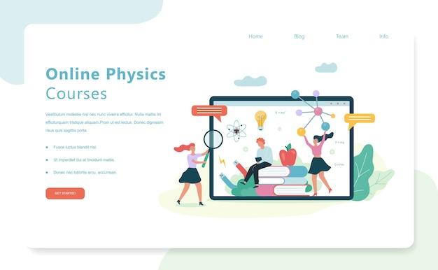 Cursos de física online. asignatura escolar. idea de ciencia