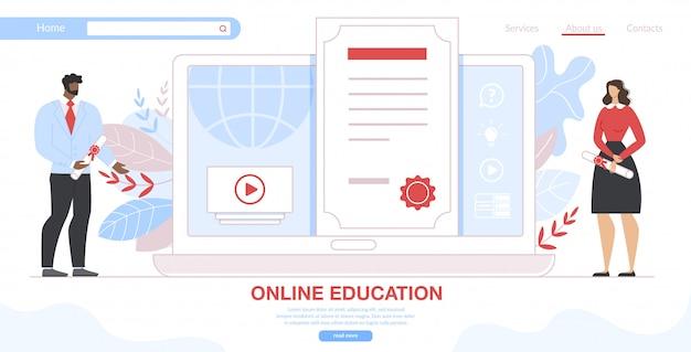 Cursos de formación en línea, plantilla de sitio web de especialización en reciclaje