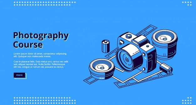 Cursos de fotografía, clases web isométrica