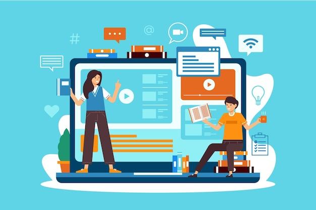Cursos en línea para estudiantes en cuarentena