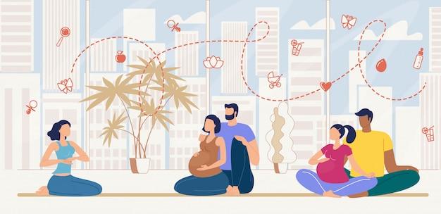 Cursos de preparación para el primer parto flat