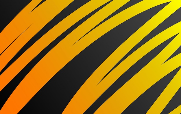 Curva de fondo naranja vector líneas naranjas en gráfico de capa de superposición de espacio oscuro