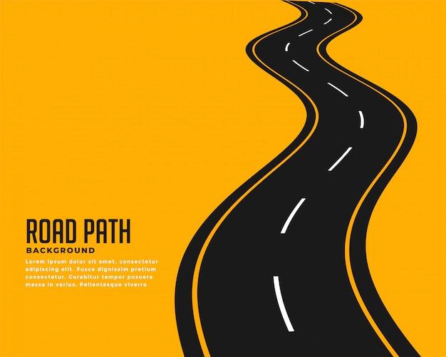 Curva de fondo sinuoso camino