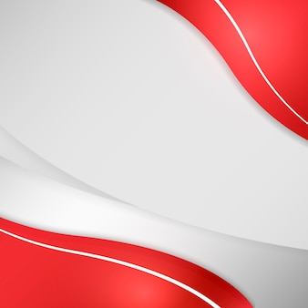 Curva roja sobre un fondo gris
