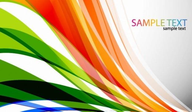 Curvas de color abstracto del vector del fondo