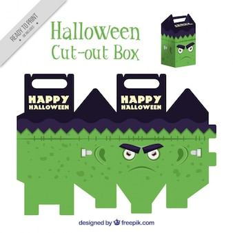 Cut out box of monster