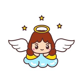 Cute angels cartoon