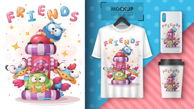 Cute bird - póster y merchandising