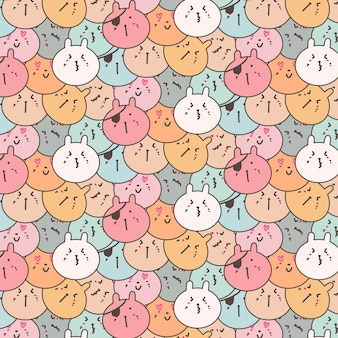 Cute bunny pattern background.