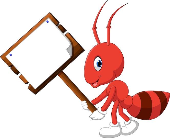 Cute dibujos animados de hormigas