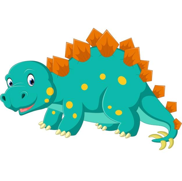 Cute dibujos animados de estegosaurio
