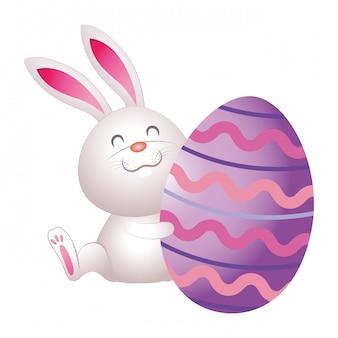 Cute dibujos animados de huevo de pascua