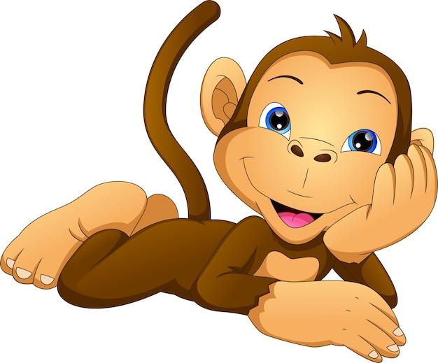 Cute dibujos animados mono