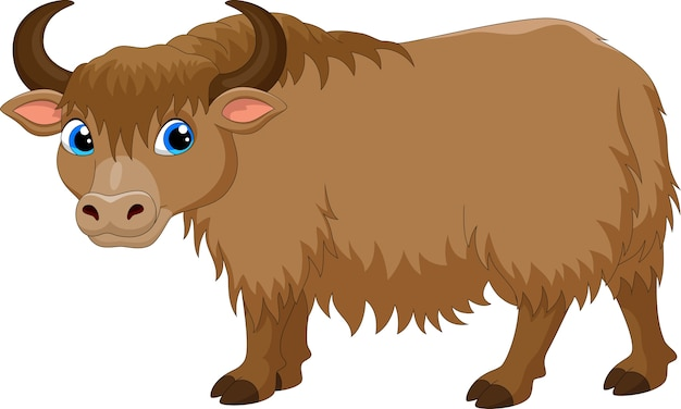 Cute dibujos animados de yak