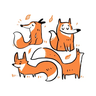 Cute dibujos animados de zorro.