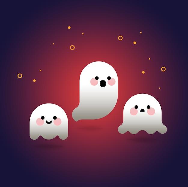 Cute holloween ghosts