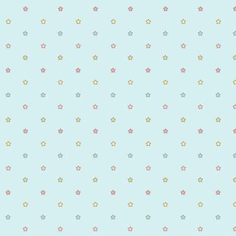 Cute kawaii little stars transparente de patrones sin fisuras.