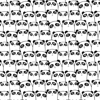 Cute panda pattern background.
