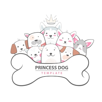 Cutu, perro divertido - ilustración animal.