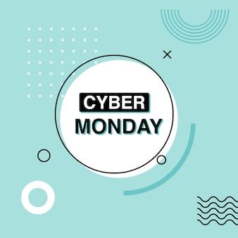 Cyber monday banner publicitario.