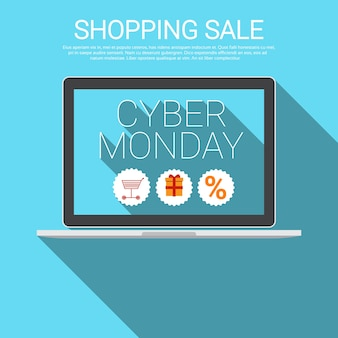 Cyber ​​monday big shopping sale banner