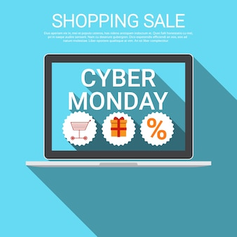 Cyber monday big shopping sale banner