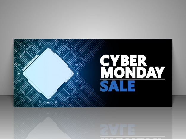 Cyber monday design gift voucher.