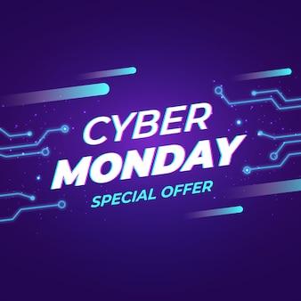 Cyber monday en diseño plano