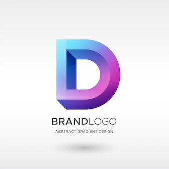 D gradient logo