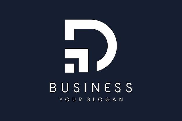 D píxel del logotipo. icono moderno del ejemplo del vector del diseño de la letra d.