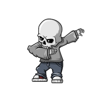 Dabbing skull