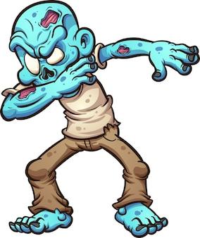 Dabbing zombie de dibujos animados